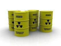 Radioactive barrels Stock Image