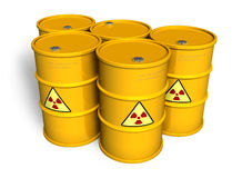 Radioactive barrels Stock Photography
