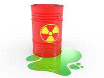 Radioactive barrels Royalty Free Stock Photography