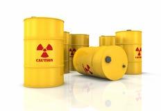 Radioactive Barrels Royalty Free Stock Photography