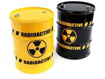 Radioactive barrels Royalty Free Stock Image
