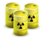 Radioactive barrels Royalty Free Stock Image