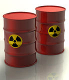 Radioactive barrels Royalty Free Stock Images