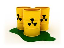 Radioactive barrels Royalty Free Stock Photo