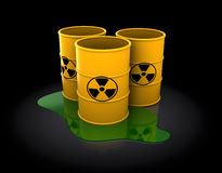 Radioactive barrels Stock Image