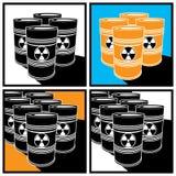Radioactive barrels Royalty Free Stock Photo
