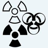 Radioactive and biohazard icon Stock Photos
