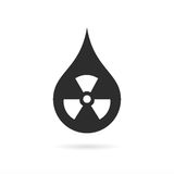 Radioactive black rain vector icon Royalty Free Stock Images