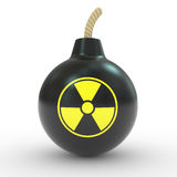 Radioactive bomb Royalty Free Stock Image