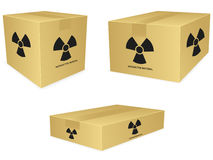 Radioactive Box Icons Stock Images