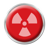 Radioactive Button Royalty Free Stock Photography