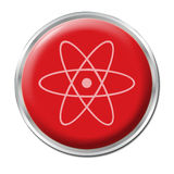 Radioactive Button Royalty Free Stock Images