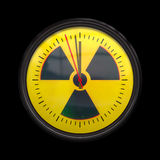 Radioactive clock Royalty Free Stock Image
