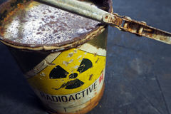 Radioactive container Stock Photography
