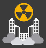 Radioactive contamination Royalty Free Stock Image