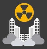 Radioactive contamination. Radioactive graphic  contamination, vector illustration Royalty Free Stock Image