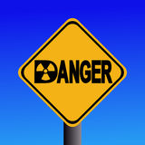 Radioactive danger sign Stock Image