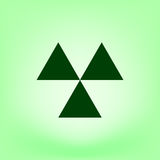 Radioactive danger sign. Vector icon Royalty Free Stock Images