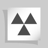 Radioactive danger sign. Vector icon Royalty Free Stock Image