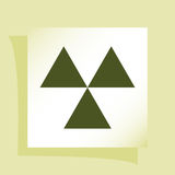 Radioactive danger sign. Vector icon Stock Photos