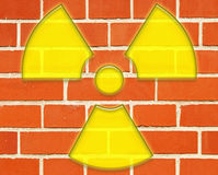 Radioactive danger symbol royalty free stock images