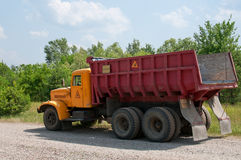 Radioactive dumper truck Stock Photography
