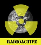Radioactive earth Stock Photo