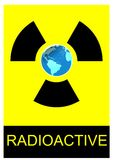 Radioactive earth Royalty Free Stock Photo