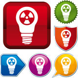 Radioactive energy icon Royalty Free Stock Images