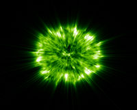 Radioactive Explosion. 3d Radioactive Explosion isolated on black background Royalty Free Stock Image