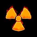 Radioactive fire Stock Photos