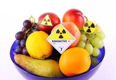 Radioactive fruits Stock Images