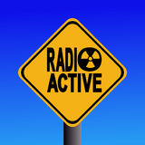 Radioactive hazard sign Stock Photos