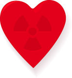 Radioactive Heart Royalty Free Stock Photo