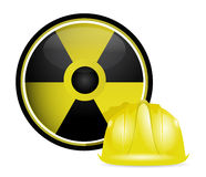 Radioactive helmet protection sign Stock Photography