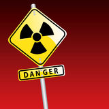 Radioactive Icon. Vector illustration of the radioactive sign Royalty Free Stock Images