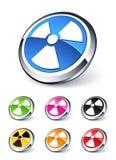 Radioactive icon royalty free illustration
