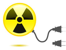 Radioactive icon with connector Royalty Free Stock Photo