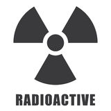 Radioactive icon in. In issolated background Stock Photo