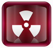 Radioactive icon red Stock Image