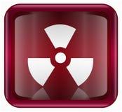 Radioactive icon red Stock Image