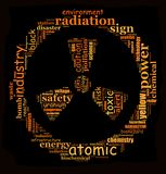 RADIOACTIVE info-text graphic Stock Images