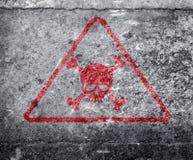 Radioactive ionizing radiation danger symbol with yellow and black stripes Stock Image