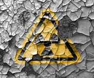 Radioactive ionizing radiation danger symbol with yellow and black stripes Stock Photography