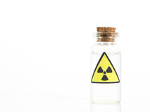 Radioactive isotope sample Stock Images