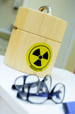 Radioactive isotopes. Container for the radioactive isotopes Royalty Free Stock Photos