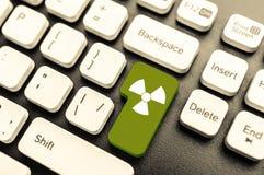 Radioactive  key Stock Photography