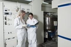 Radioactive laboratory Stock Images