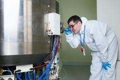 Radioactive laboratory Stock Photos