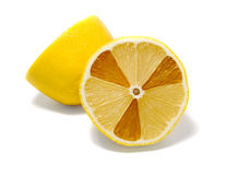 Radioactive lemon. On white background royalty free stock photography